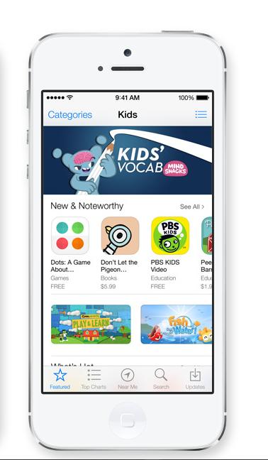 Categoria Kids su App Store