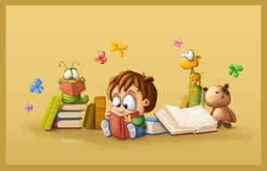 social book day - un bambino che legge