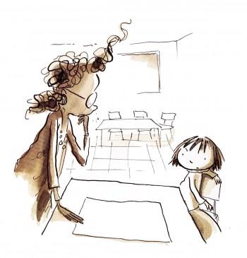 Nelle brevi storie per bambini compaiono la maestra e Vashti