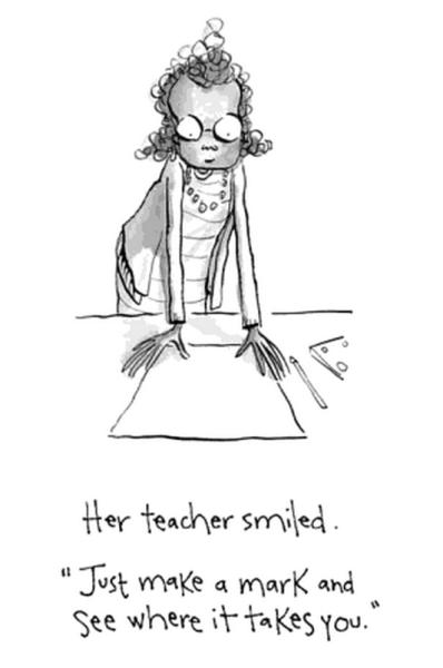La maestra dice make your mark in queste brevi storie per bambini