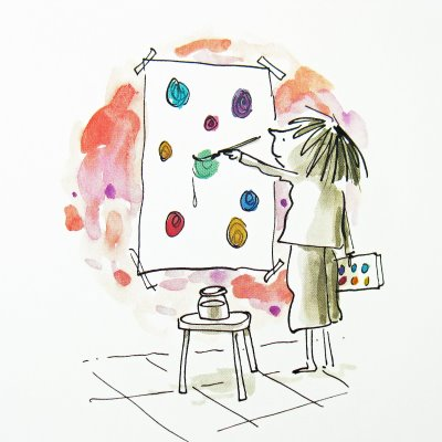 Il quadro compare nelle brevi storie per bambini