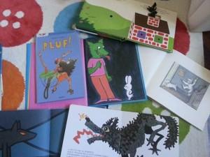 i lupi scelti per l'incontro sui libri illustrati per bambini