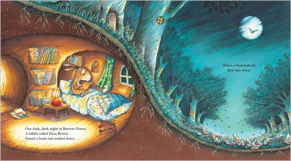 La coniglia legge un libro - L'acchiappalibri