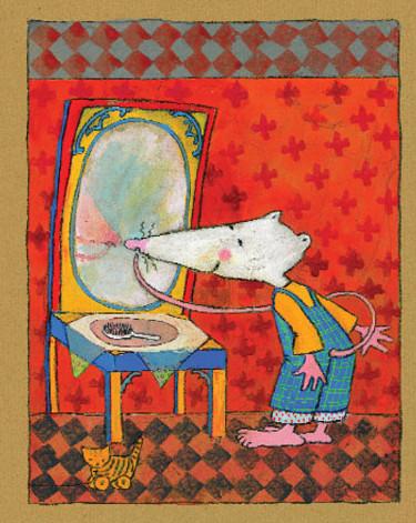 storie per bambini-il topolino si specchia