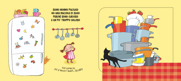 Interno di Nonni Cuci libro con alette