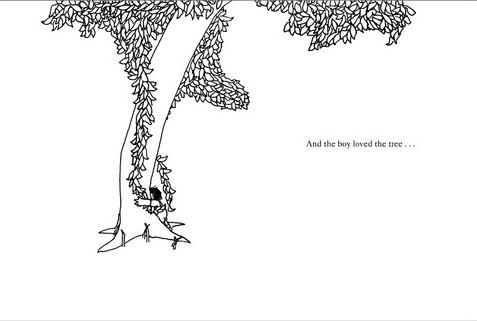 il bambino abbraccia l albero