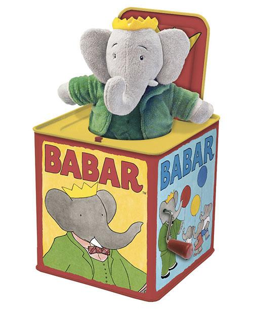 il peluche nella scatola di Babar