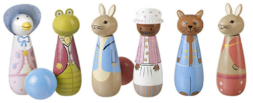 i birilli con i personaggi di beatrix potter