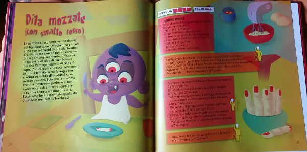 interni di un mostro in cucina