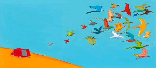 Gli uccelli è uno splendido libro di Topipittori