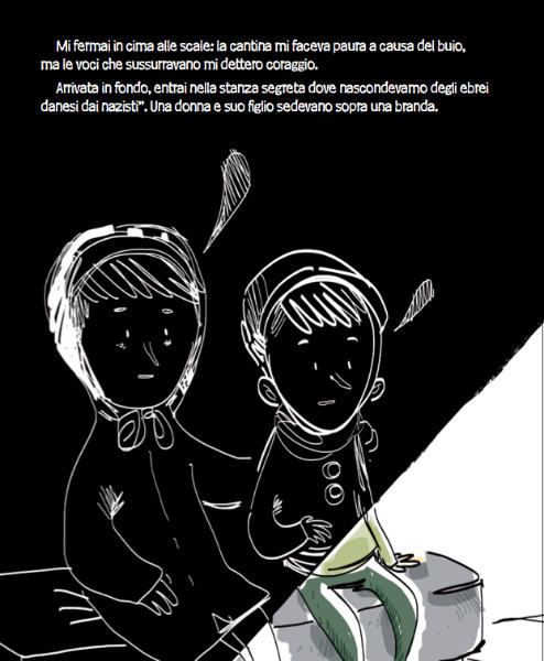 la mamma e il bambino ebrei nascosti