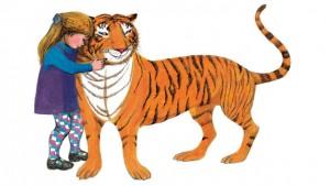 Sophie abbraccia la tigre