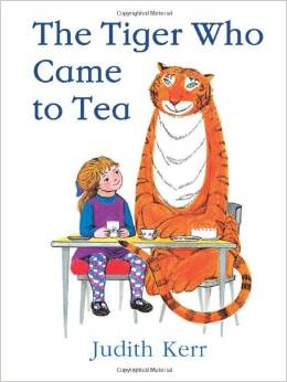 copertina di The tiger who came to tea