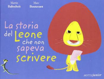 copertina di La storia del leone che non sapeva scrivere