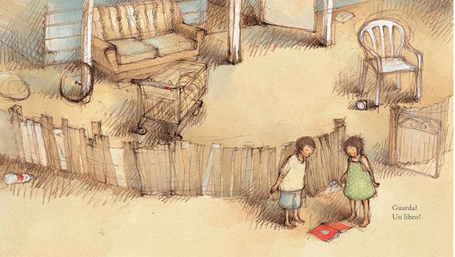 interno di Guarda, un libro