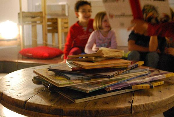 libri in primo piano
