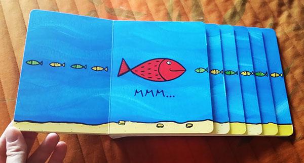 il pesce rosso affamato
