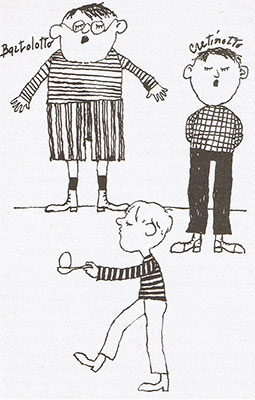 Illustrazione interna de Il Bambino Sottovuoto