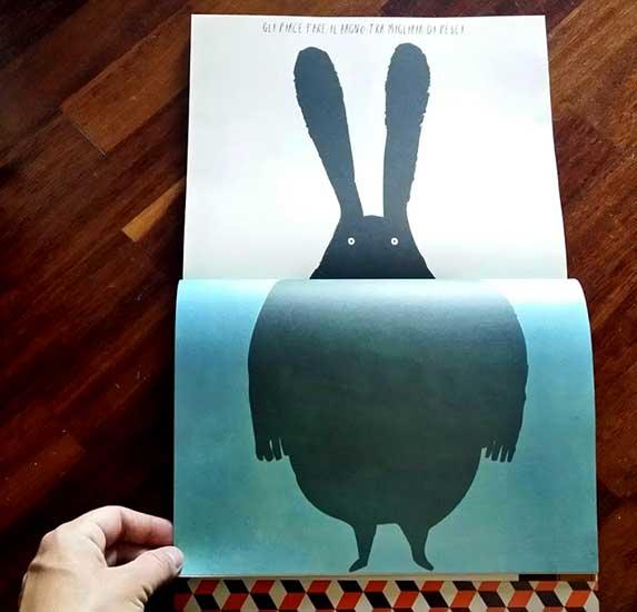 il coniglio sogna pesci nel mare
