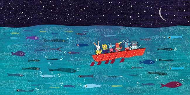 gli animali in barca