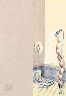 una torre di uova