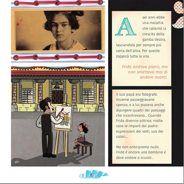 pagina interna di Frida Kahlo Antiprincipesse