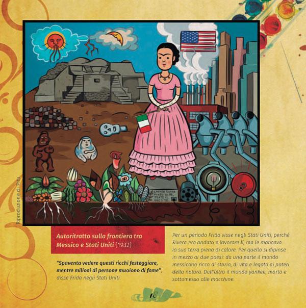 pagina interna del libro di Frida Kahlo