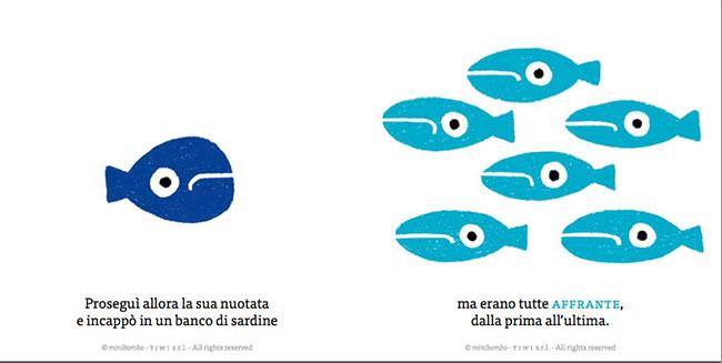 i pesci sono i protagonisti di questa favola per bambini