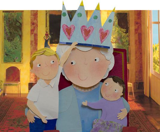 La regina indossa la corona giusta grazie ai nipotini