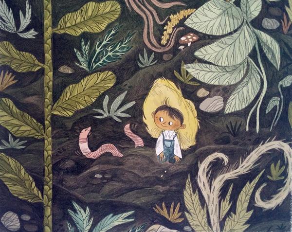 il piccolo giardiniere e l'amico verme