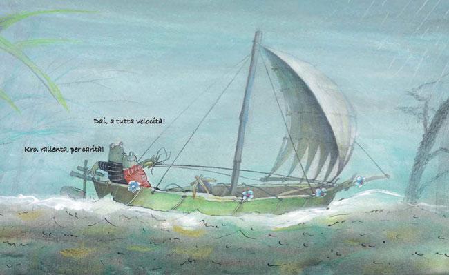 una barca a vela