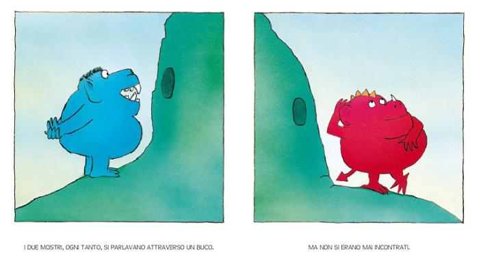 i due mostri si parlano dal buco