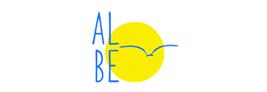 Albe edizioni logo sole giallo con uccello in volo