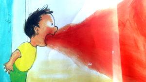 la rabbia esce da Roberto