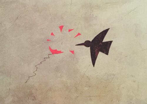 il corvo buca il palloncino