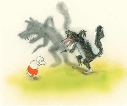 lupo e cane