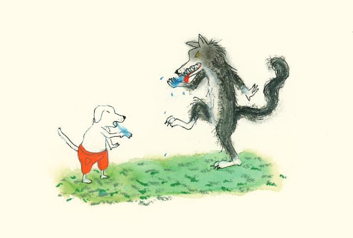 Lupo e cane insoliti cugini - immagini in evidenza