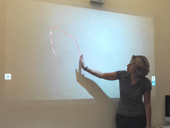 Anna Castagnoli durante un corso