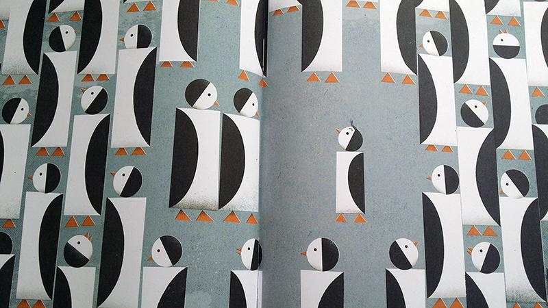 Milo fra gli altri pinguini