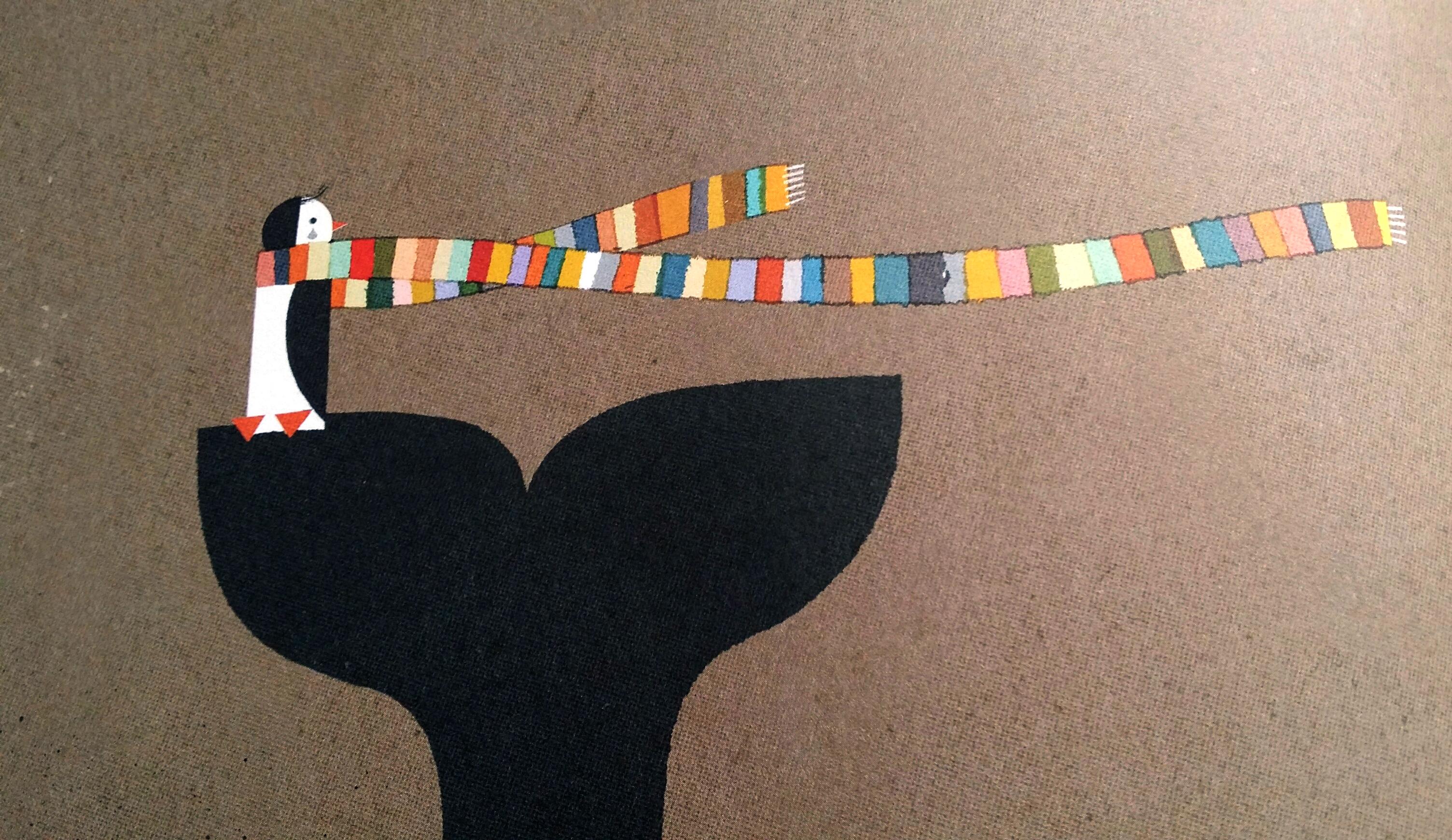 sciarpa color arcobaleno