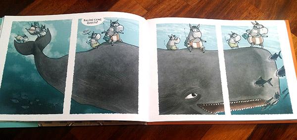 Gaetano e Zolletta sulla balena