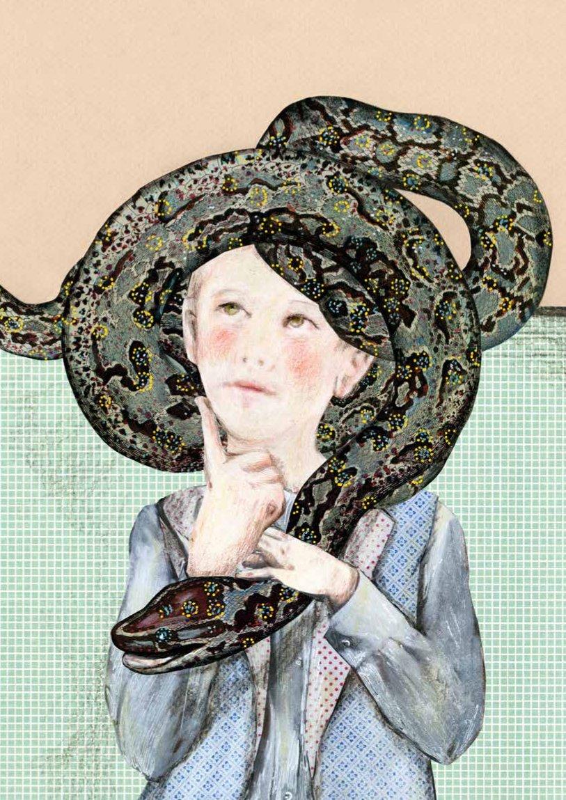 bambino e serpente