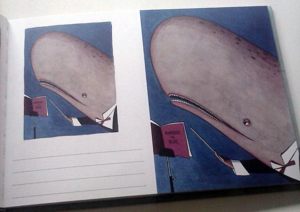 cartolina con balena
