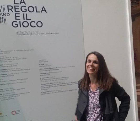 Francesca Tamberlani alla mostra La Regola e il gioco
