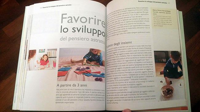 pagine interne del libro sul metodo Montessori