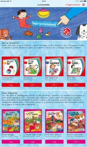 libri gioco La coccinella in app