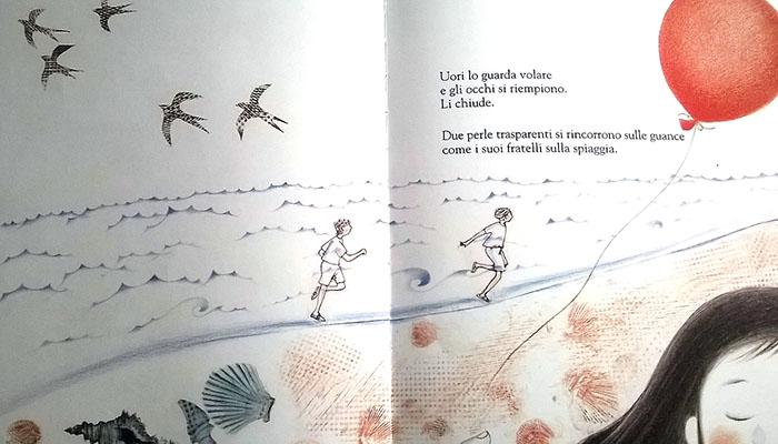 """illustrazione interna di """"Mamma, anche le rondini sognano"""""""