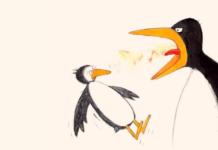 l'urlo della mamma manda in pezzi il pinguino