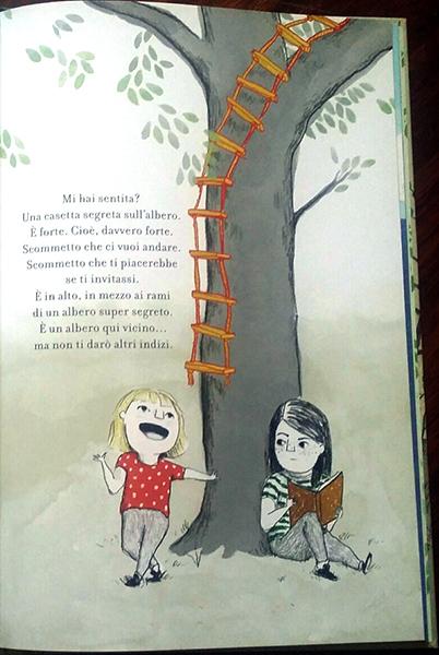 interni di La casetta segreta sull'albero
