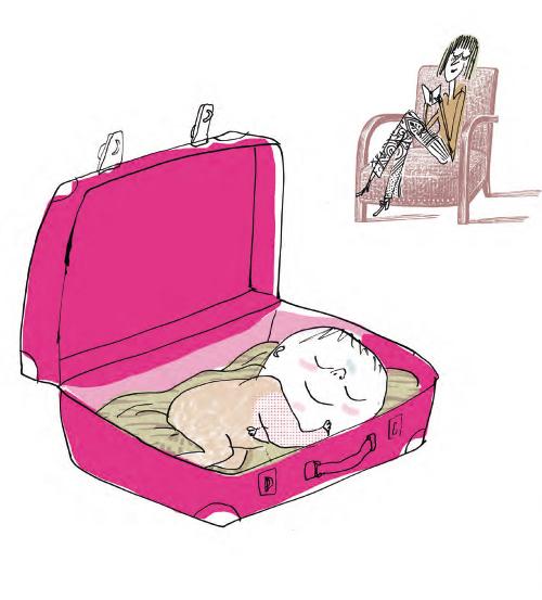 Beniamino dorme nella valigia